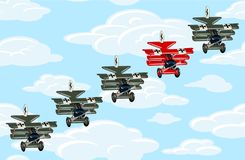 JUST BE AN ACE. leadership concept. Unique and different concept. With cartoon retro airplanes. Available EPS-10 vector format separated by groups and layers vector illustration