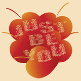 JUST BE YOU. Autumn leaf. Vector image Stock Photo