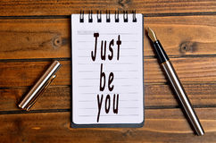 Just be you words Royalty Free Stock Photography