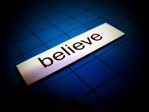 Just Believe. The word believe in magnetic words Royalty Free Stock Photography