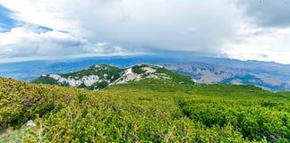 Just below the summit of Sneznik Stock Photo