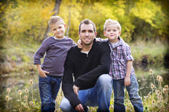 Just the Boys Portrait Royalty Free Stock Photography
