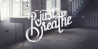 Just Breath Calmness Peaceful Mind Meditation Concept Royalty Free Stock Photo
