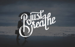 Just Breath Calmness Peaceful Mind Meditation Concept Royalty Free Stock Photos
