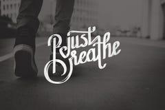 Just Breath Calmness Peaceful Mind Meditation Concept Stock Images
