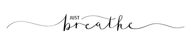 Free JUST BREATHE Black Brush Calligraphy Banner Stock Image - 185398051