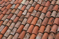 Just bricks. Round bricks on roof Stock Photography
