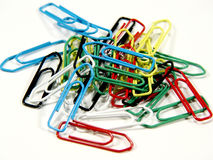Just a bunch of clips. Pile of coloured clips Royalty Free Stock Photography