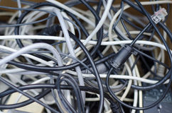 Just a bunch of wires Royalty Free Stock Photos