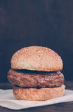 Just the burger Royalty Free Stock Photography
