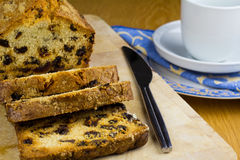 Just Cake. Slices of rich fruit loaf cake for tea Royalty Free Stock Image