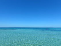 Just the calm turquoise and blue sea Royalty Free Stock Image