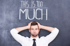 Just can not stand! Royalty Free Stock Image