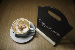 Just Cappuccino on the Menu! Stock Photos