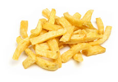 Just Chips. Chunky chips on white background Stock Images