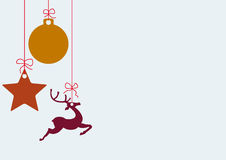 Just Christmas Card. Christmas card with star, bauble and rentier. Eps 10  file Stock Image