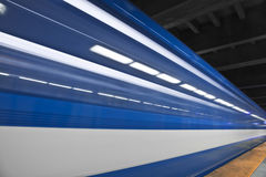 Fast metro passing by Royalty Free Stock Photos