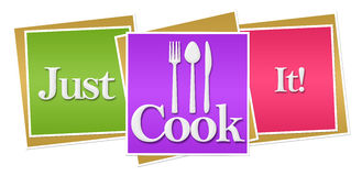 Just Cook It Colorful Blocks Royalty Free Stock Photography