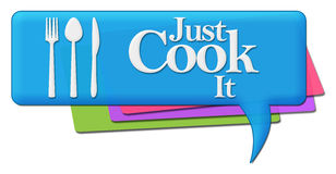 Just Cook It Colorful Comments Symbols Royalty Free Stock Images