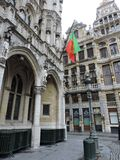 Just from the corner. Beautiful buildings in Grand Place Brussel Royalty Free Stock Photography