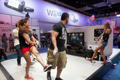 Just Dance 4 and Nintendo WiiU at E3 2012 Stock Image
