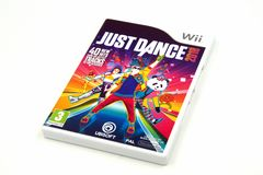 Just Dance 2018. Amsterdam, The Netherlands - Februari 16, 2018: Nintendo Wii Just Dance 2018 game against a white background Royalty Free Stock Images