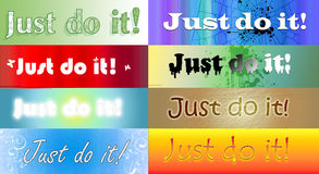 Just do it Royalty Free Stock Images