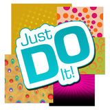 Just Do It Various Colorful Background Stock Images