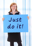 Just do it Royalty Free Stock Photo
