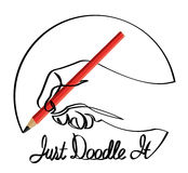 Just Doodle It. Hand drawing itself like a doodle royalty free illustration