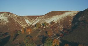 Just fabulous video with drone from the high of amazing mountain and field in the autumn. stock footage