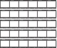 Just film. Traditional film strip with ISO label and numbers at side Stock Images