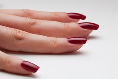 Just from fingernail service Royalty Free Stock Photo