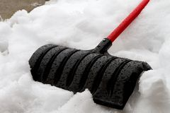 Just finished cleaning the sidewalk Royalty Free Stock Images