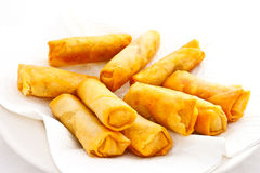 Just finished fried springrolls Royalty Free Stock Image