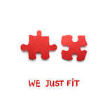We just fit. Royalty Free Stock Photo