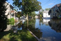 Just Flooded. Hurricane Irene Flooding on my street from the Passaic River Royalty Free Stock Photography