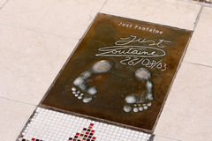 Just Fontaine's footprints Royalty Free Stock Image