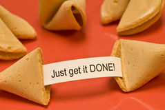 Just Get it Done Fortune Cookie Stock Images