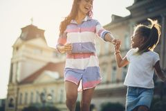 Just girls having a good time. royalty free stock images