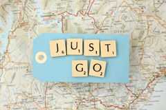 Just go - travel Royalty Free Stock Images
