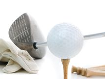 Just Golf. The bare essentials in white Royalty Free Stock Photos