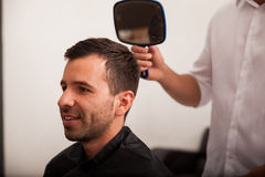 Just got a new haircut Royalty Free Stock Photos