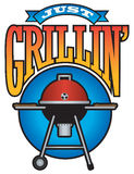 Just Grillin' Barbecue Party Graphic Stock Photo