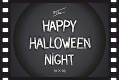 Just Halloween poster. Just Halloween retro poster in style cinema with volumetric lettering. Vector eps 10 Royalty Free Stock Photography