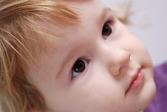 Just imagine. Close up of child face Stock Images