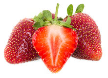 Just juicy strawberries Stock Image