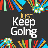 Just Keep Going Dark Colorful Elements Royalty Free Stock Photography