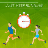 Just Keep Running Royalty Free Stock Images