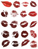Just A Kiss On The Lips Royalty Free Stock Photos